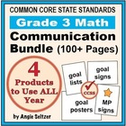 Grade 3 Common Core Math Communication Bundle (Posters, Go