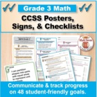 Grade 3 Common Core Math Standards Posters ~ CCSS Overview
