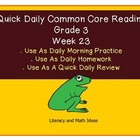 Grade 3 Daily Common Core Reading Practice Weeks 23 {LMI}