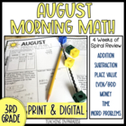 Grade 3 Morning Math Review: August