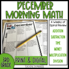 Grade 3 Morning Math Review: December