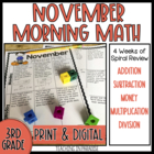 Grade 3 Morning Math Review: November