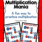 Grade 3 Multiplication Mania Game Board