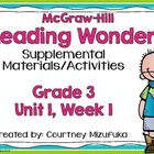 Grade 3 Reading Wonders Supplemental Activities Unit 1, Week 1
