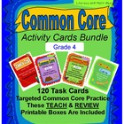 Grade 4 Common Core Reading Activity Cards Bundle
