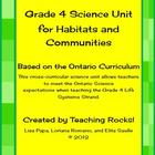 Grade 4 Science Unit (Habitats & Communities) for Ontario