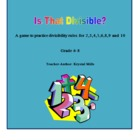 Grade 5-8: FREE Divisibility Rules Game, Poster and Printable
