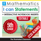 Fifth Grade Common Core Standards Posters I Can Statements - Math