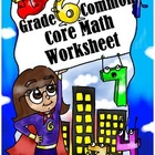 Grade 6 Common Core: Expressions and Equations Math Worksheet 2.5