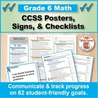 Grade 6 Common Core Math Standards Posters ~ CCSS Overview