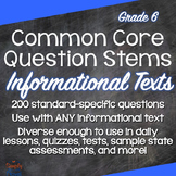 Grade 6 Common Core Question Stems and Annotated Standards