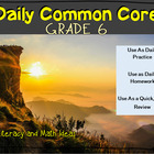 Grade 6 Daily Common Core Reading Practice Weeks 6-10 {LMI}