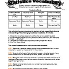 Grade 6 Math - Statistics Vocabulary Activities - Printabl