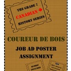 Grade 7 Canadian History Coureur de Bois Job Ad Assignment