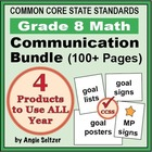 Grade 8 Common Core Math Communication Bundle (Posters, Go