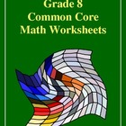 Grade 8 Common Core Math Worksheets: Geometry 8.G 7 #1