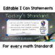 "Eighth Grade Common Core Standards ""I Can Statements"" Post"