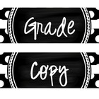 Grade Copy File Polka Dot Drawer Labels