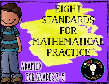 Grades 3-5 - Eight Mathematical Practice Standards - Common Core - Adapted