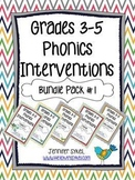 Grades 3-5 Phonics Interventions - Bundle Pack 1