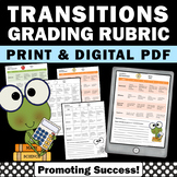 Special Education Transitions Rubric Assessment IEP Autism Goals