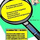Grammar Action Unit 3 - Cheat Sheets, Games, Answer Keys (6 -12+)