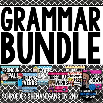 Grammar Activities BUNDLE!! 6 Grammar and Language Packs!