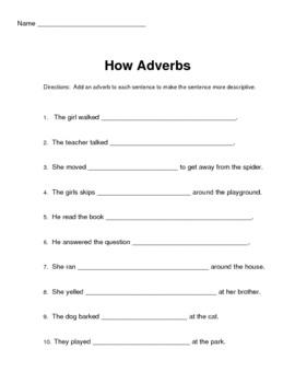 Grammar: Adverbs and Adjectives