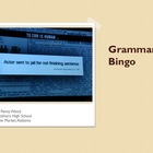 Grammar Bingo with Clues for Struggling Students