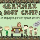 Grammar Boot Camp: 16 Language and 8 Parts of Speech Posters