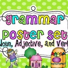 Grammar Poster Set {Noun, Adjective and Verb}