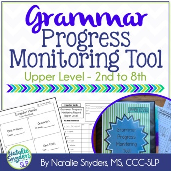Grammar Progress Monitoring Tool for SLPs - Upper Level (2nd - 8th)