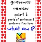 Grammar Skills Review: What Am I? Printable Exercise 1