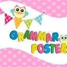 Grammar Vocabulary Posters in Pastel Owl