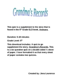 Grandma's Records Quiz