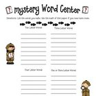 Grandparents' Day Mystery Word Activity