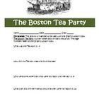 Graphic History: The Boston Tea Party Activity and Answer Key