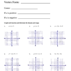 Graphing Absolute Value Equations & Inequalities Worksheet