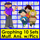 Graphing for Pocket Chart - 10 Qs&Responses w/Graphics-Set 1-CCSS