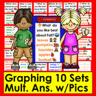 Graphing for Pocket Chart Set 2- Ten Qs & Responses w/Graphics