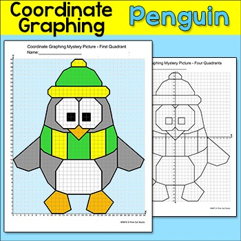 Graphing Coordinates Winter Penguin Mystery Picture