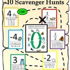 Graphing Linear Equations Scavenger Hunt 10-Pack