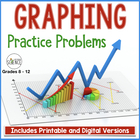 Graphing Practice Problems, 3 Problems with questions, Com