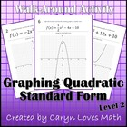 Graphing Quadratic Equations Walk-around Activity-Level 2