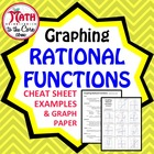 Graphing Rational Functions Cheat Sheet and Graph Paper.