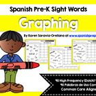 Spanish Pre-Kinder Graphing High Frequency Words