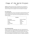 Graphing and Writing Equations of a Line Project- Flags of