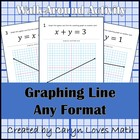 Graphing/Finding Equation of LINEAR Equations-Walk around