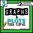 Graphs and Plots Task Cards for 3rd Grade with Bonus Brain