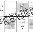 Graphs of Linear Equations Minibook Foldable